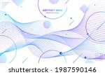 abstract colorfull wave element ... | Shutterstock .eps vector #1987590146