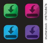 bar four color glass button icon