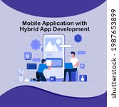 mobile application with hybrid...
