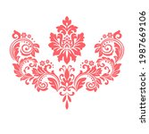 damask graphic ornament. floral ...   Shutterstock .eps vector #1987669106