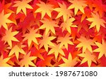 autumn leaves background  one... | Shutterstock .eps vector #1987671080