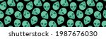 seamless pattern with aliens... | Shutterstock .eps vector #1987676030