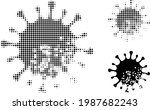 damaged microbe halftone dotted ... | Shutterstock .eps vector #1987682243