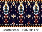 ikat geometric folklore...   Shutterstock .eps vector #1987704170