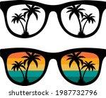 summer retro sunglasses svg... | Shutterstock .eps vector #1987732796