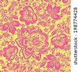 vector floral seamless pattern. ... | Shutterstock .eps vector #198774428