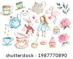 Alice In Wonderland Watercolor...