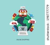 online shopping | Shutterstock .eps vector #198777779