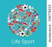 circular concept of sports... | Shutterstock .eps vector #198778523