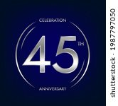 45th anniversary. forty five... | Shutterstock .eps vector #1987797050