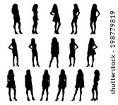 posing women silhouettes | Shutterstock .eps vector #198779819
