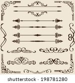 classic set isolated on beige | Shutterstock .eps vector #198781280