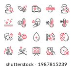 vector set of healthcare icons...   Shutterstock .eps vector #1987815239