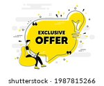 exclusive offer text. idea chat ... | Shutterstock .eps vector #1987815266