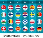 set of icons with the flags of...   Shutterstock .eps vector #1987838729