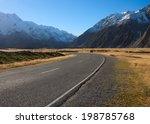 road in mount cook national... | Shutterstock . vector #198785768