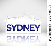 sydney australia skyline...   Shutterstock .eps vector #198785774