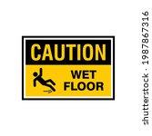 simple caution wet floor sign...   Shutterstock .eps vector #1987867316