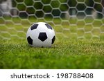 leather soccer ball on a... | Shutterstock . vector #198788408
