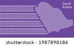 saudi arabia map with vector... | Shutterstock .eps vector #1987898186