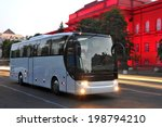 white tourist bus of city lights | Shutterstock . vector #198794210
