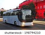 white tourist bus of city lights | Shutterstock . vector #198794210