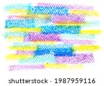 crayon draw on white paper...   Shutterstock . vector #1987959116