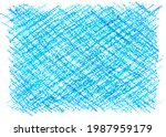 crayon draw on white paper...   Shutterstock . vector #1987959179