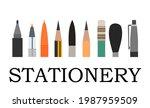 stationery. logo. background... | Shutterstock .eps vector #1987959509