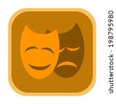 dramatic theatrical masks icon | Shutterstock . vector #198795980