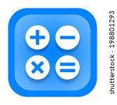 calculator icon | Shutterstock . vector #198801293