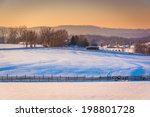 View Of Snow Covered Farm...