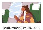 passenger traveling by air... | Shutterstock .eps vector #1988020013