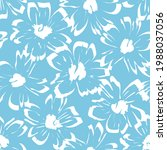 blue tropical floral botanical...   Shutterstock .eps vector #1988037056