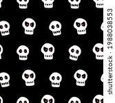 seamless pattern with skulls.... | Shutterstock .eps vector #1988038553