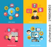 education learning concept flat ... | Shutterstock .eps vector #198804803
