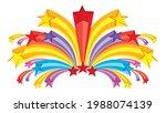 star fireworks  multicolored... | Shutterstock .eps vector #1988074139
