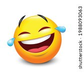the emoji face lol laugh and... | Shutterstock .eps vector #1988093063
