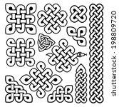 celtic knots | Shutterstock .eps vector #198809720