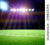 soccer field with the bright... | Shutterstock . vector #198810293