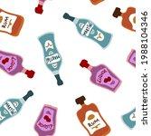 martini liquor and rum bottles... | Shutterstock .eps vector #1988104346
