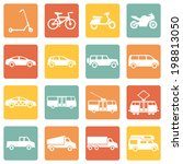 vector set of color square... | Shutterstock .eps vector #198813050