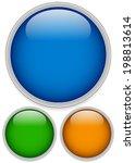 empty glossy spheres | Shutterstock .eps vector #198813614