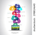 modern cloud globals... | Shutterstock .eps vector #198814640