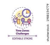 time zones challenges concept... | Shutterstock .eps vector #1988154779