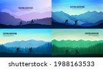 vector landscapes set. travel...   Shutterstock .eps vector #1988163533