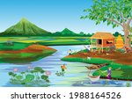 lifestyle of people at... | Shutterstock .eps vector #1988164526