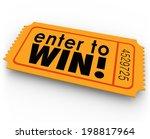 Enter To Win Words Orange...