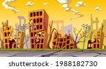 destroyed buildings after... | Shutterstock .eps vector #1988182730