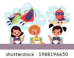 kids fantasies. cartoon...   Shutterstock .eps vector #1988196650